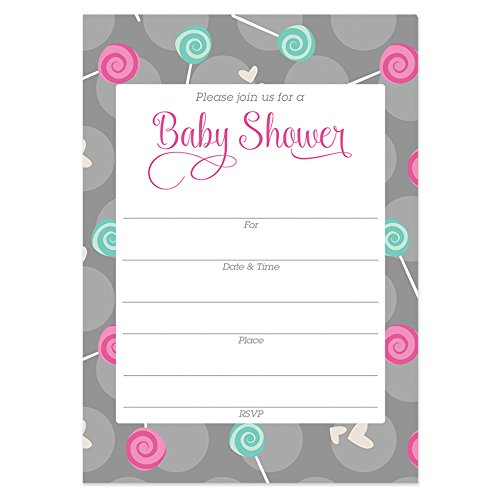 Cute Baby Shower Invitations With Envelopes Pack Of 25