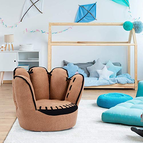 kids tv chair decorating for baby shower costzon sofa baseball glove shaped fingers style toddler armchair living room seat children furniture