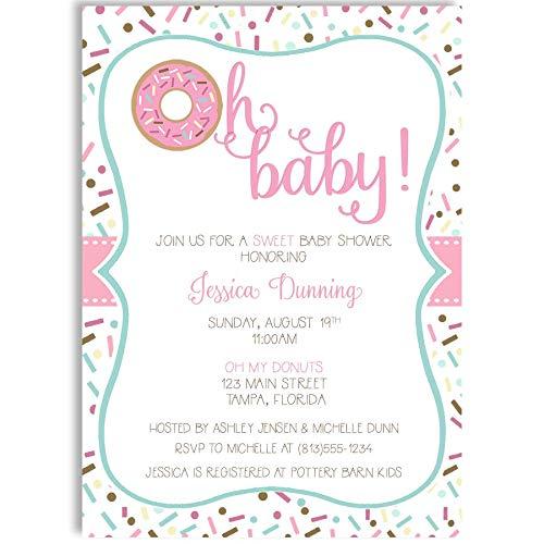 Donut Oh Baby Shower Invitations Invites