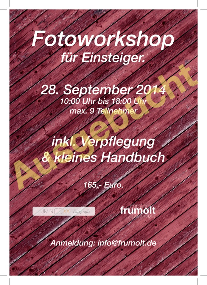 workshop 28 sep 2014 ausgebucht