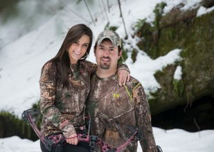bow hunting engagement portraits