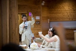 best man giving toast at wedding reception
