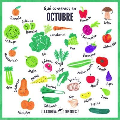 frutas y verduras de octubre