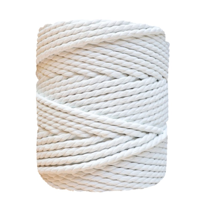 Bottle macrame blanco perla