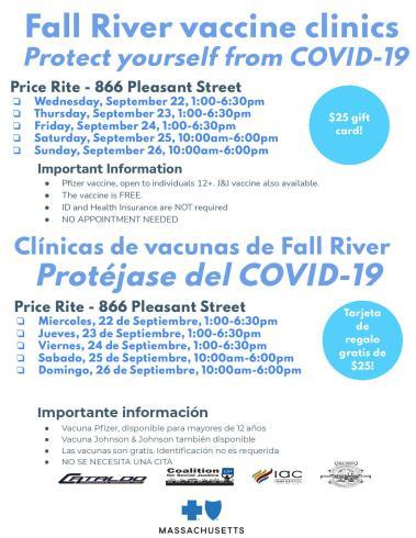 Price Rite vaccine clinics September 22-26