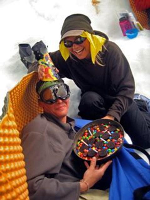 We like birthdays on our expeditions. Climb Alaska.