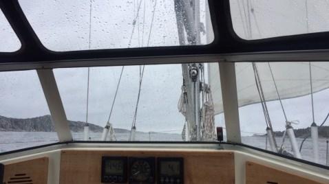 Sail in rain