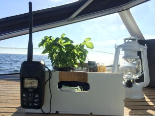 Herbs in place on sailing