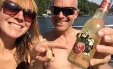 Cider in the sun on frydogfloke