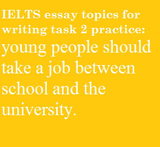 Essay About The School Ielts Essay Topics  Education And Work What Is A Personal Narrative Essay also Essay Learning Some Suggest That Young People Should Take A Job Between Soccer Essay
