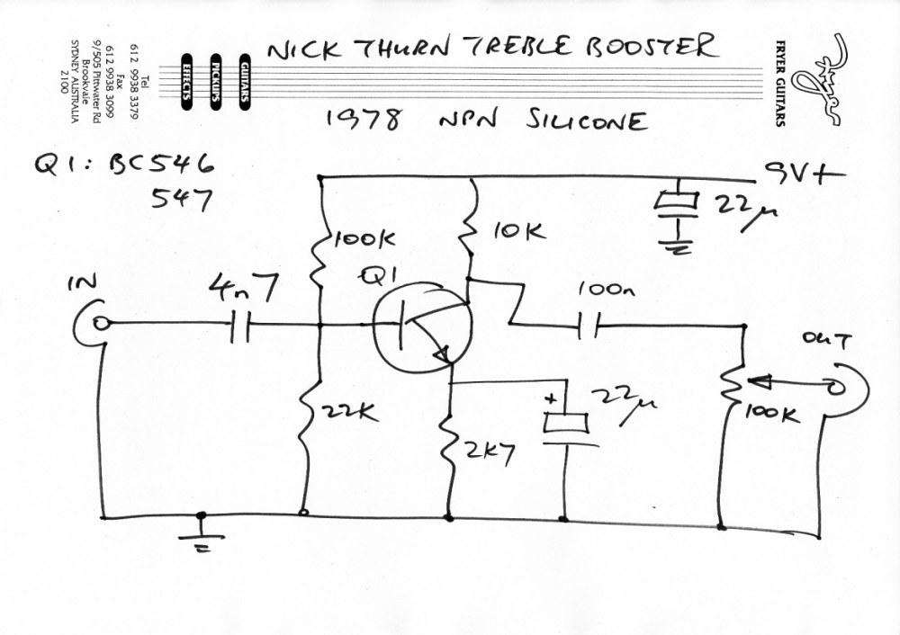 medium resolution of treble booster circuit wiring diagrams u2022 ford ammeter wiring diagram http www365gtc4com gallery albumaspx