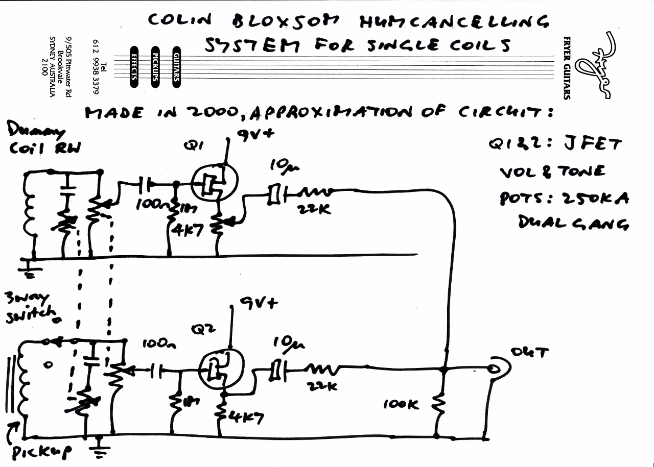 Humcancelling System For Single Coil Pickups