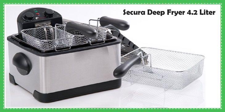 Secura 1700-Watt Stainless-Steel Triple Basket Electric Deep Fryer with Timer Fr