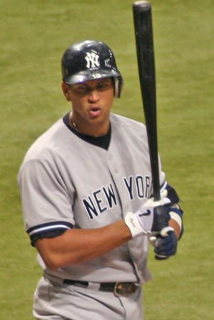 Alex Rodriguez sharing his thoughts on a calle...