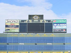 North end zone at Lambeau Field which displays...