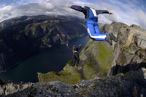 BASE Jump from Earth