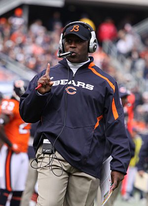 English: LOVIE SMITH, of the Chicago Bears, in...