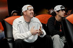 Brandon Weeden watches the BCS Unveiling