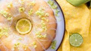 From Scratch Lemon Lime Bundt Cake