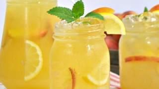 Skinny Peach Lemonade Recipe - No Sugar Added!