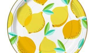 Lemon Party Plates