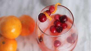 Holiday Clementine Cranberry Cocktail