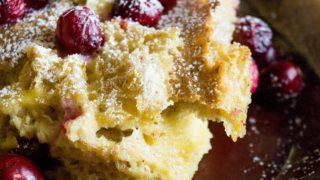 Cranberry Eggnog Bake