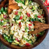 Mediterranean Pasta Salad with Arugula and Feta