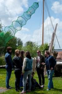 Op het erf van Fryske Fisker Freerk Visserman in Heeg