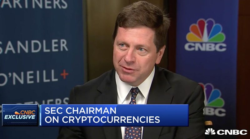 SEC Chairman: Cryptocurrencies Like Bitcoin Are Not Securities, but Most ICOs Are