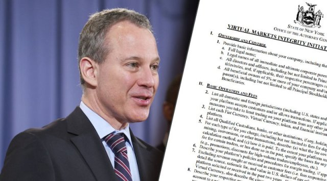 New York Attorney General Launches Inquiry Into Cryptocurrency Exchanges