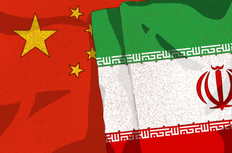 Iran China Flag