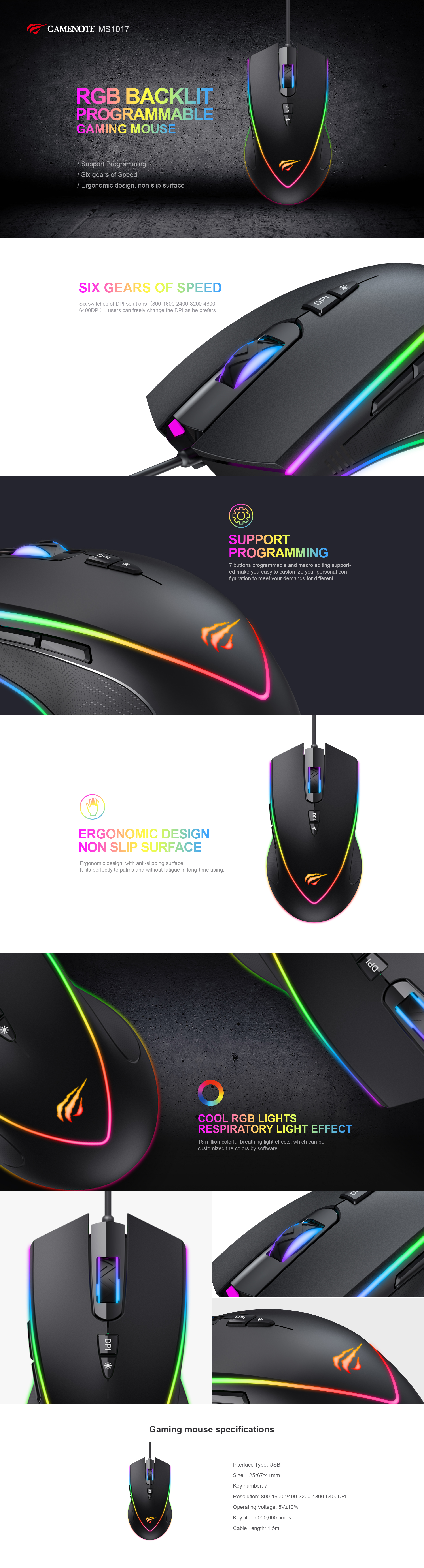 Havit Mouse Software : havit, mouse, software, MS1017, Backlit, Gaming, Mouse, HAVIT, Official, Website