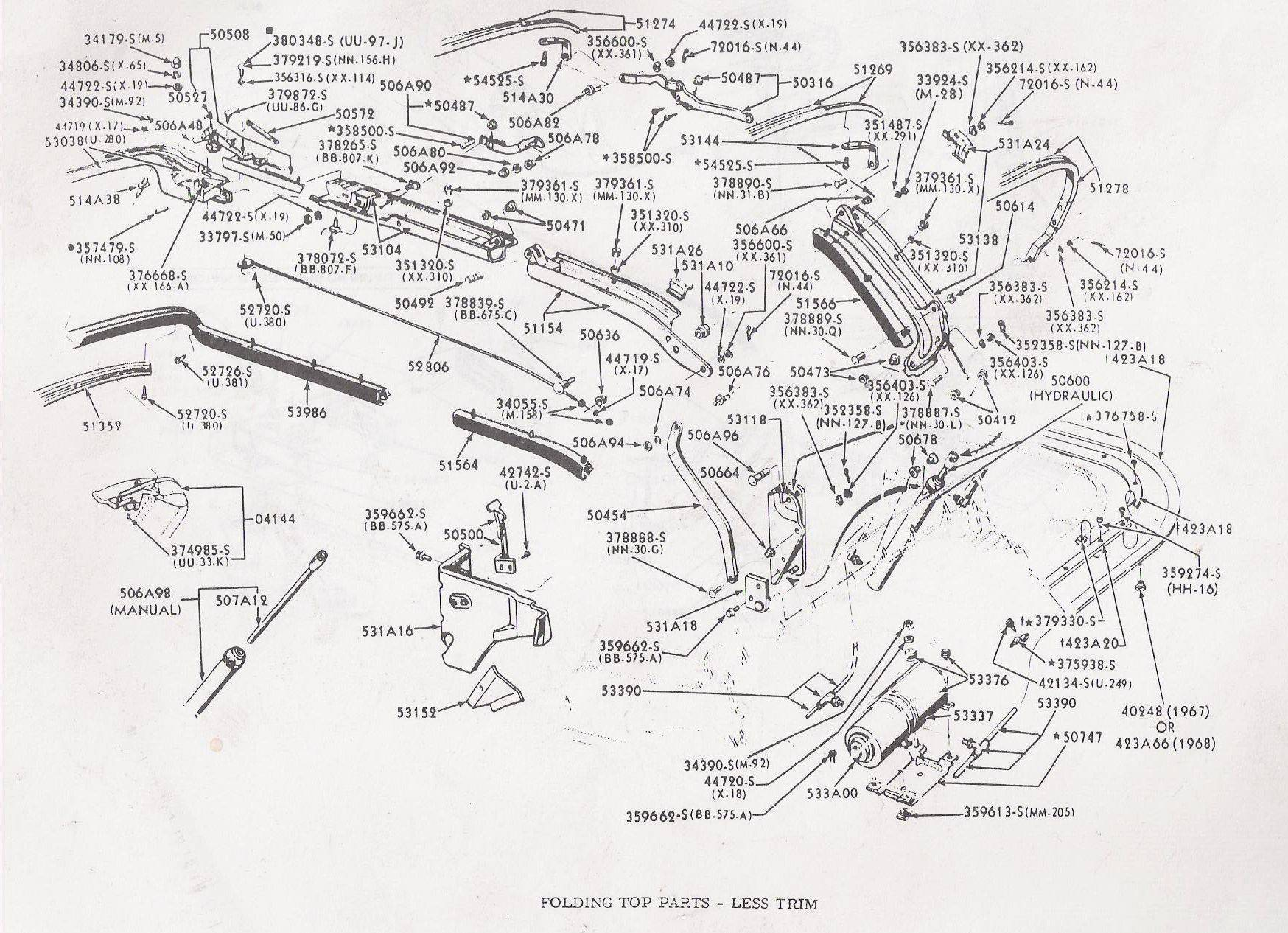 66 ford mustang wiring diagram 5 pin trailer plug australia convertible weatherstripping trim piece