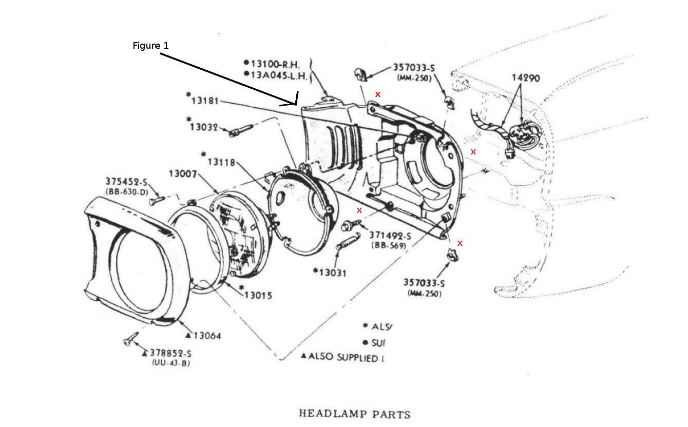hight resolution of 1966 mustang headlight bucket
