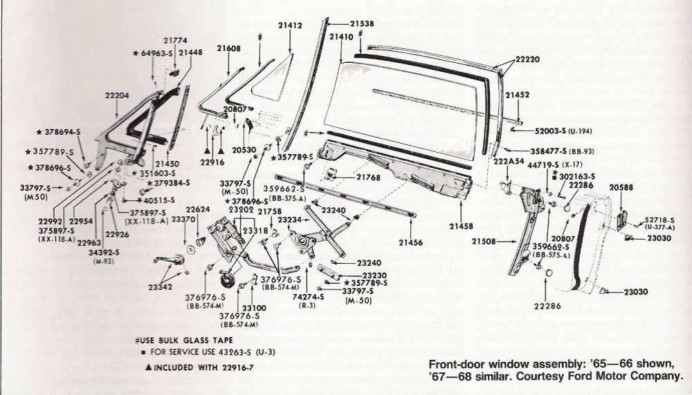 medium resolution of 65 mustang door glass diagram schematic diagram1966 mustang door diagram wiring diagram all data 65 mustang