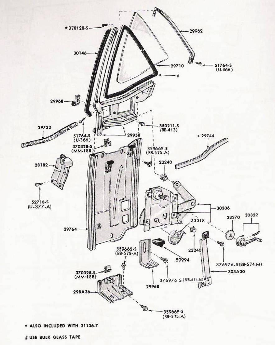 Rear quarter window broken bushing replacement exterior rh christonium 1966 mustang console wiring 66 mustang vacuum diagram