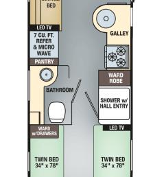 airstream interanational signature 25 twin floor plan [ 624 x 1480 Pixel ]