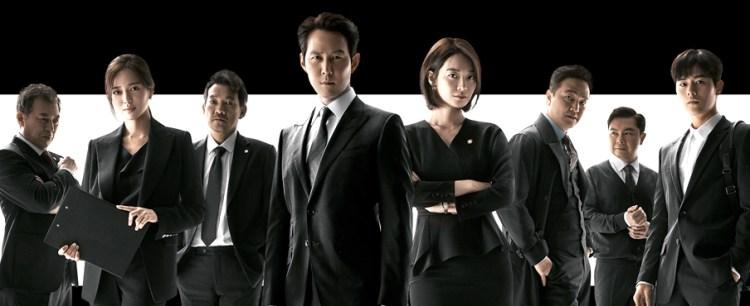 왼쪽부터 김갑수 이엘리야 정진영 이정재 신민아 정웅인 임원희 김동준