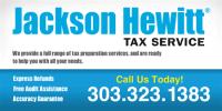Jackson Hewitt Tax Service Window Decal - Signazon