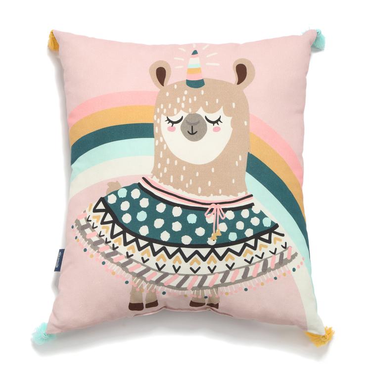 la millou friends decorative pillow lama baby