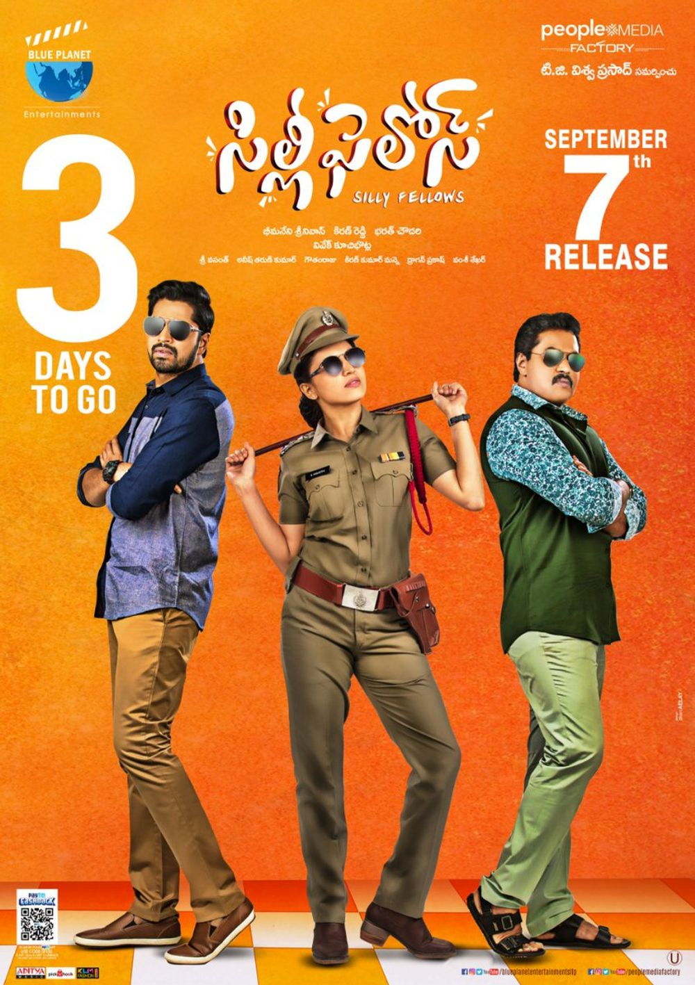 Silly Fellows 2018 Dual Audio Hindi 400MB UNCUT 480p Download