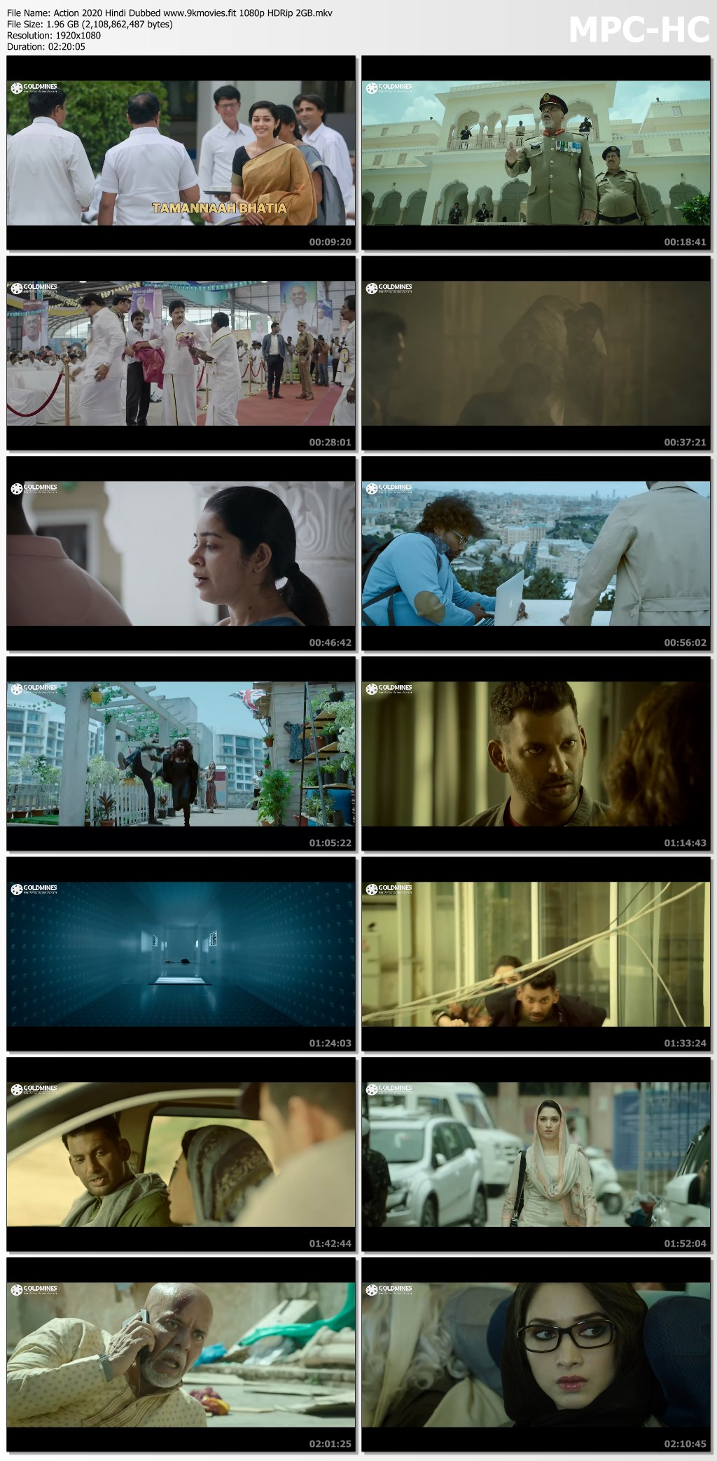 Download Action 2020 Hindi Dubbed 1080p HDRip 2GB
