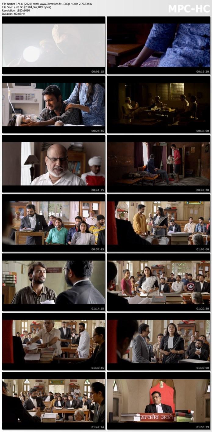 Download 376 D (2020) Hindi 480p HDRip 390MB