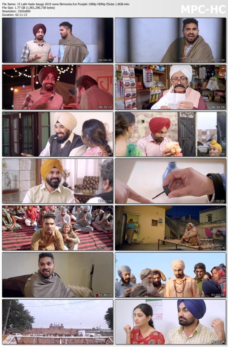Download 15 Lakh Kado Aauga 2019 Punjabi 480p HDRip ESubs 400MB