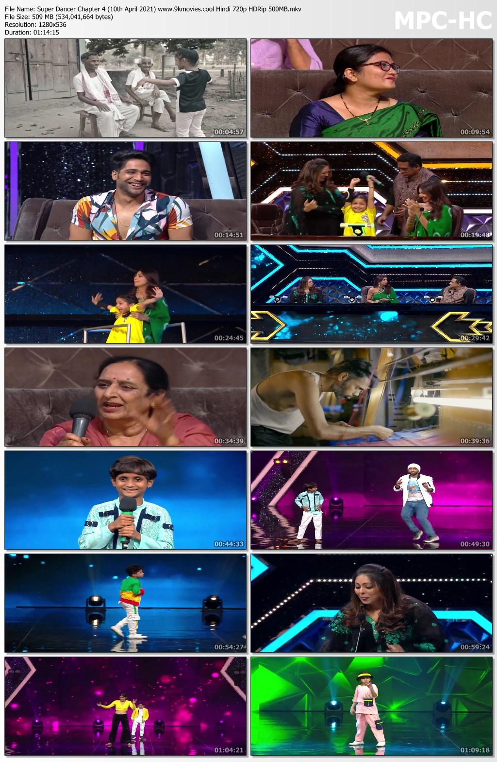 Download Super Dancer Chapter 4 (10th April 2021) Hindi 720p HDRip 500MB