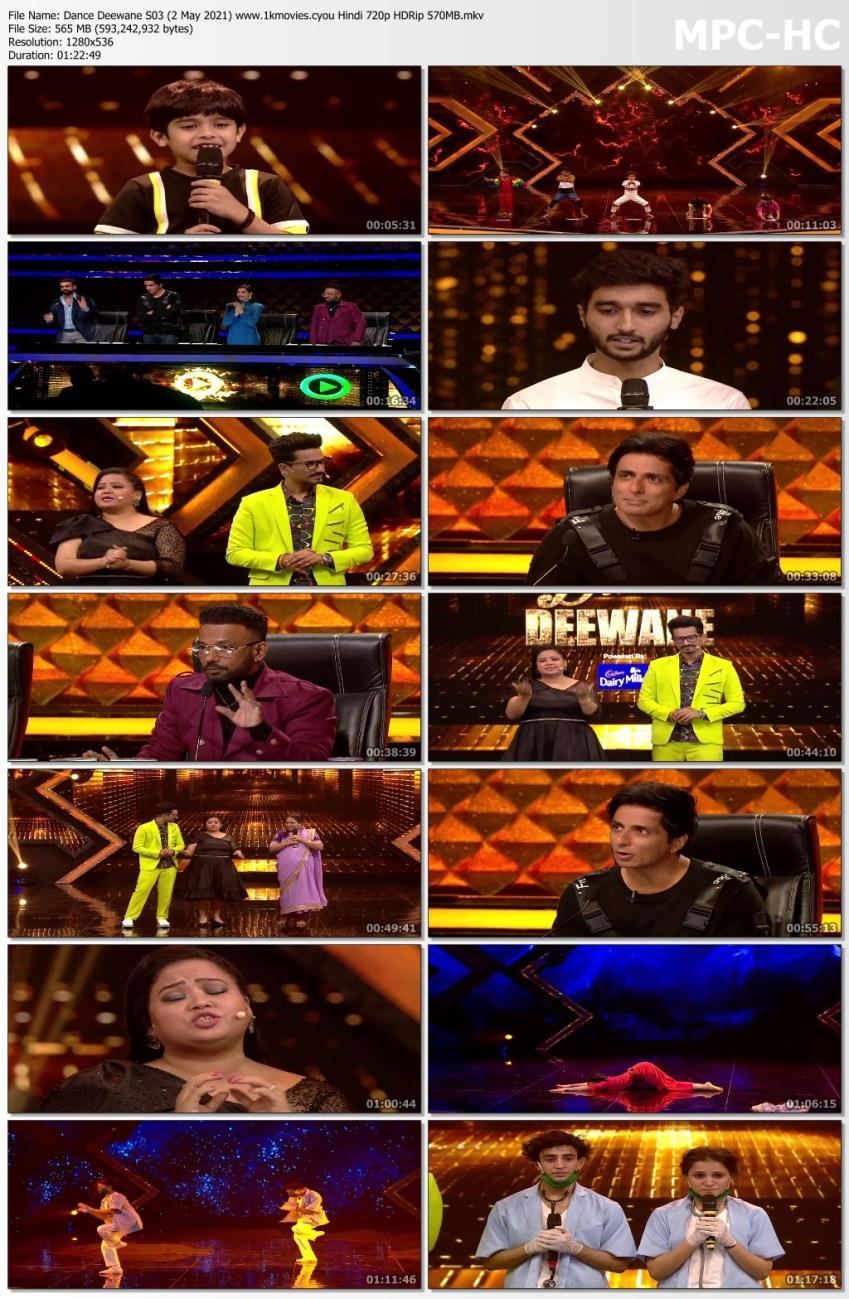 Download Dance Deewane S03 (2 May 2021) Hindi 720p HDRip 560MB