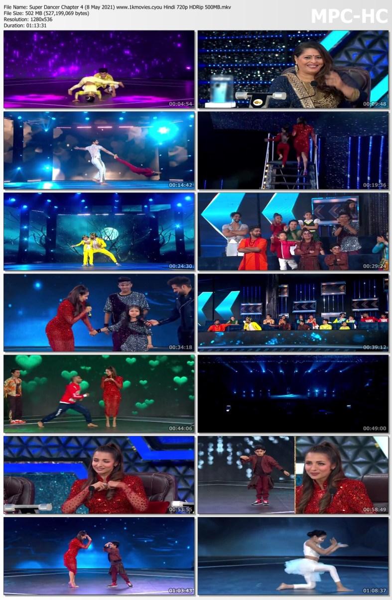 Download Super Dancer Chapter 4 (8 May 2021) Hindi 720p HDRip 500MB