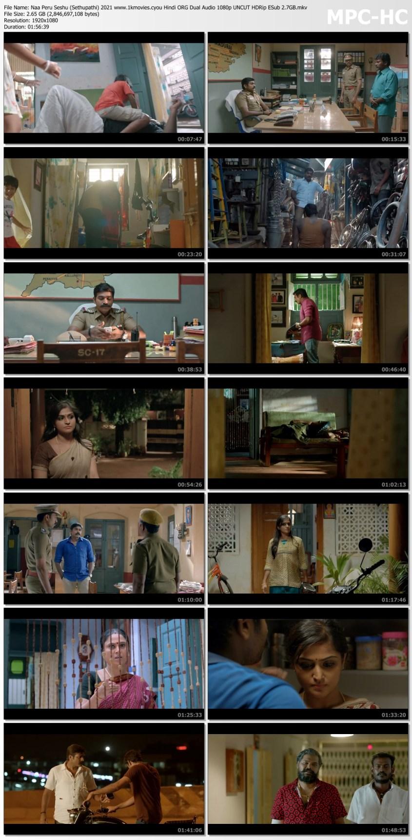 Download Naa Peru Seshu (Sethupathi) 2021 Hindi ORG Dual Audio 480p UNCUT HDRip ESub 400MB