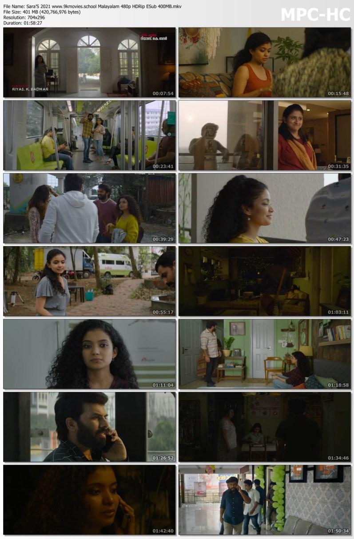 Download Sara'S 2021 Malayalam 480p AMZN HDRip ESub 400MB